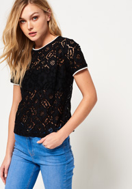 Superdry | TORI ALL OVER LACE TOP
