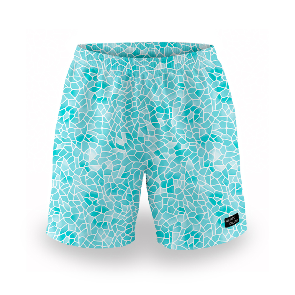 Whats Down | Blue Mosaic Mens Boxers