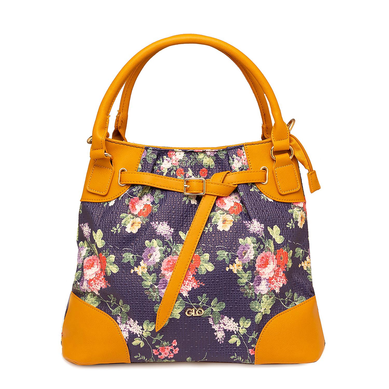 globus | Globus Navy Floral Hobo Bag