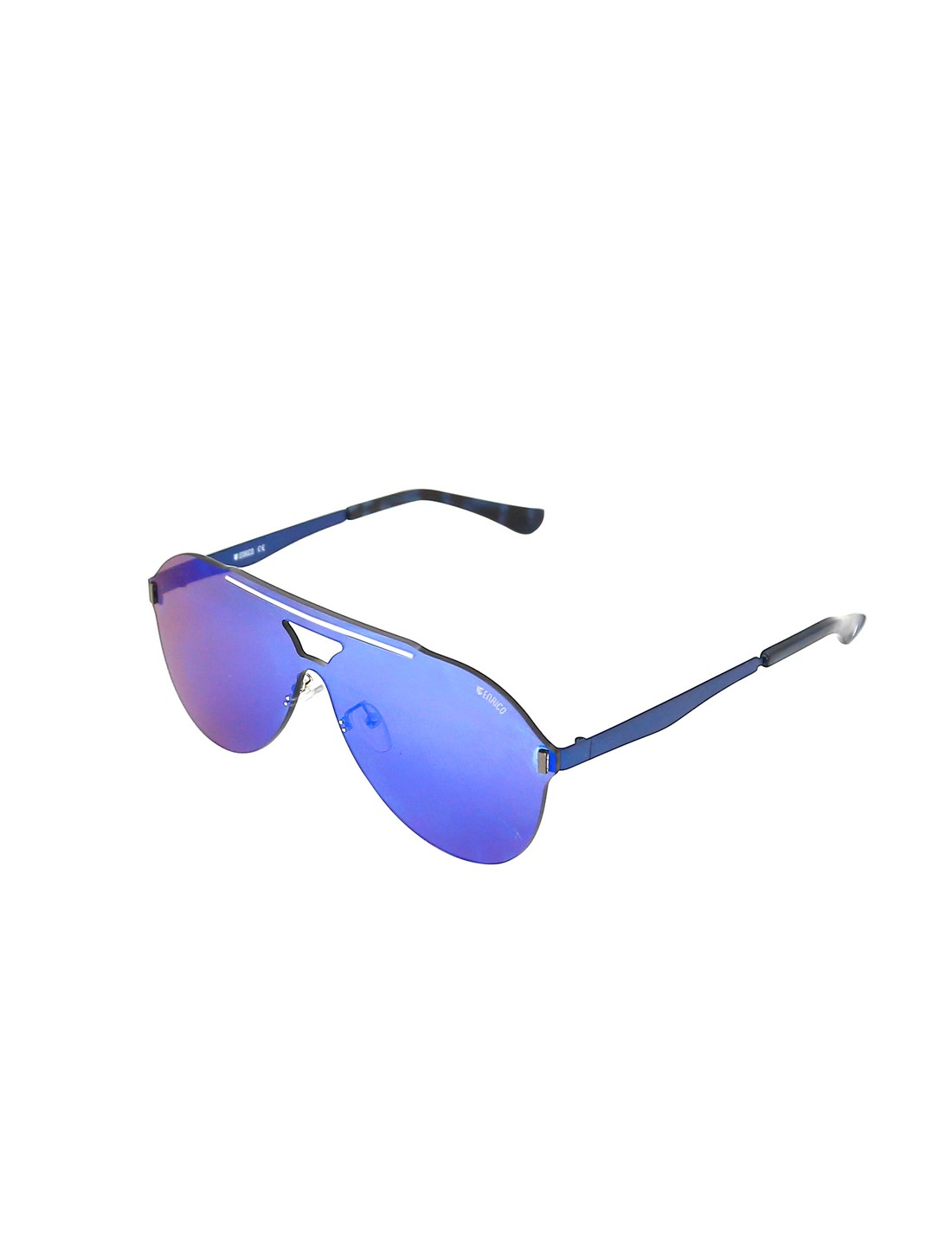 ENRICO | ENRICO Mask UV Protected Aviator Sunglasses for Men ( Lens - Blue | Frame - Blue)
