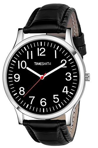 Timesmith | Timesmith Black Leather Black Dial Watch For Men CTC-002 For Men