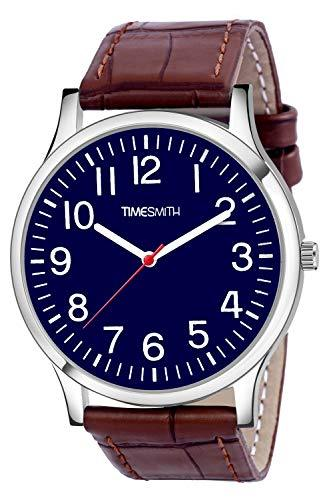 Timesmith | Timesmith Brown Leather Blue Dial Watch For Men CTC-003 For Men