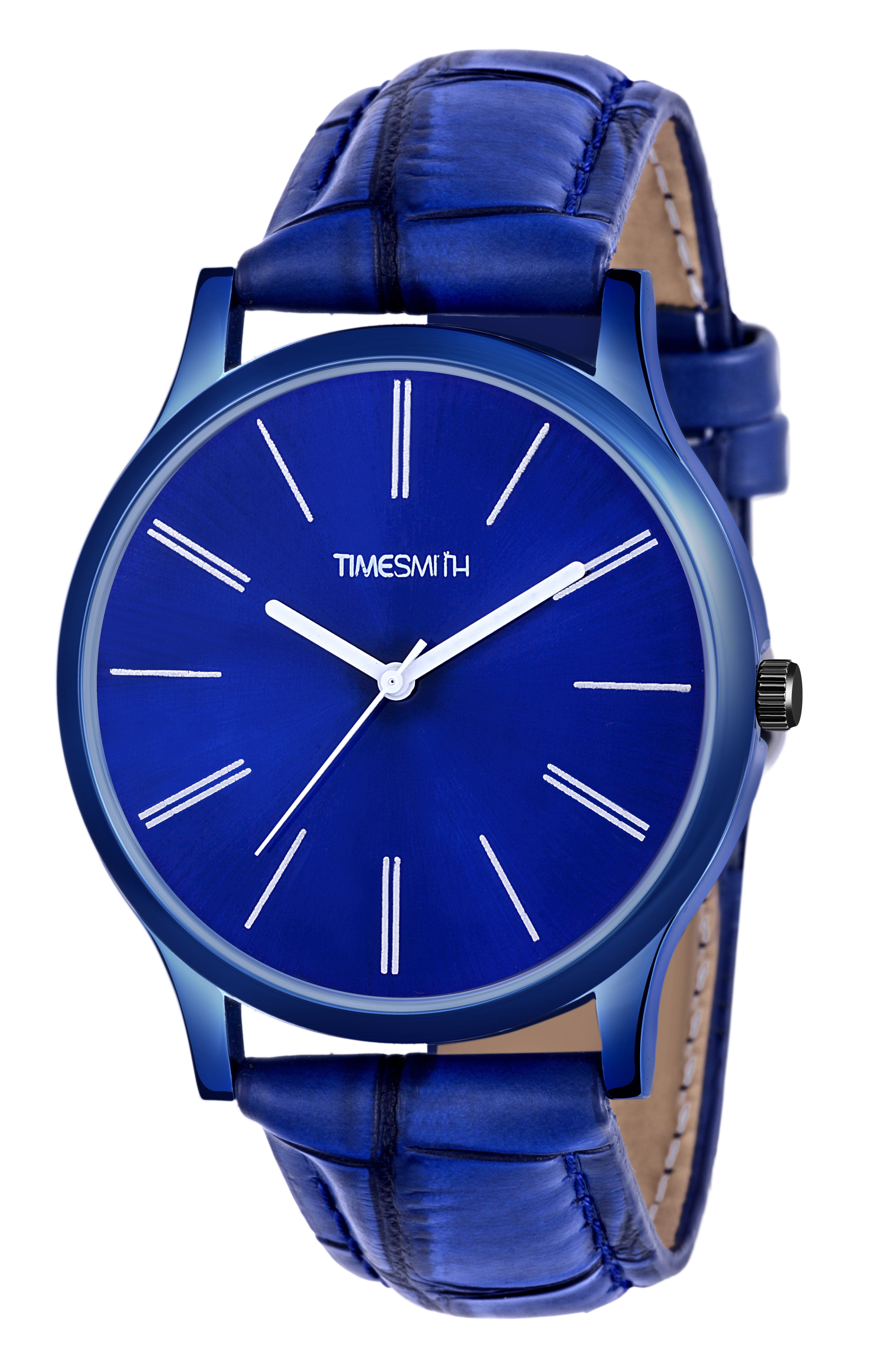 Timesmith | Timesmith Blue Leather Blue Dial Watch For Men CTC-006mtn