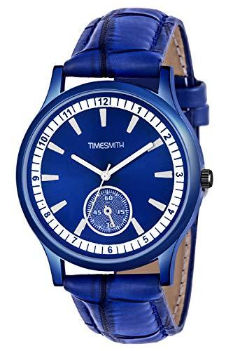 Timesmith   Timesmith Blue Leather Blue Dial Watch For Men CTC-007 For Men