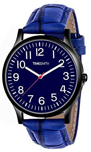 Timesmith   Timesmith Blue Leather Blue Dial Watch For Men CTC-013 For Men