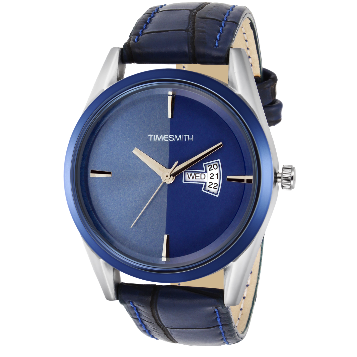Timesmith | Timesmith Blue Dial Blue Leather Strap GenuineTSC-018mtn