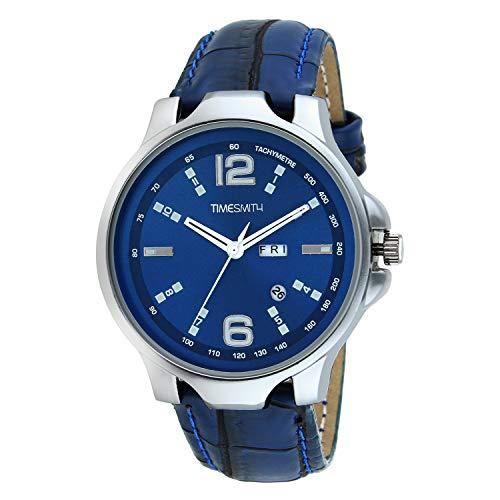 Timesmith   Timesmith Men Blue Leather Analogue Watch With Free Sunglasses TSC-035-WMG-002 Blue Onesize For Men