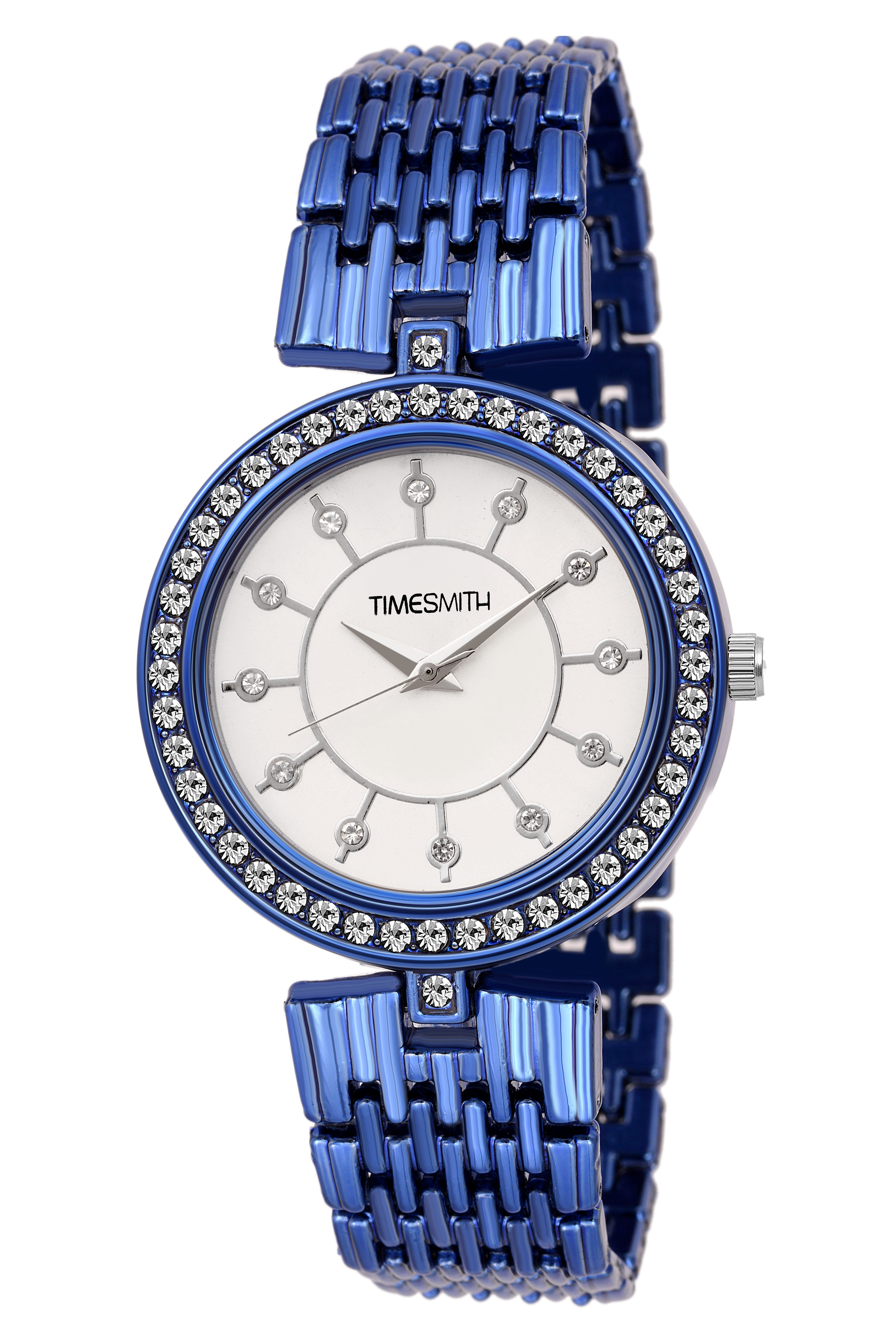 Timesmith   Timesmith White Dial Blue Stainless Steel Strap Branded Analog Watch for Women TSC-047