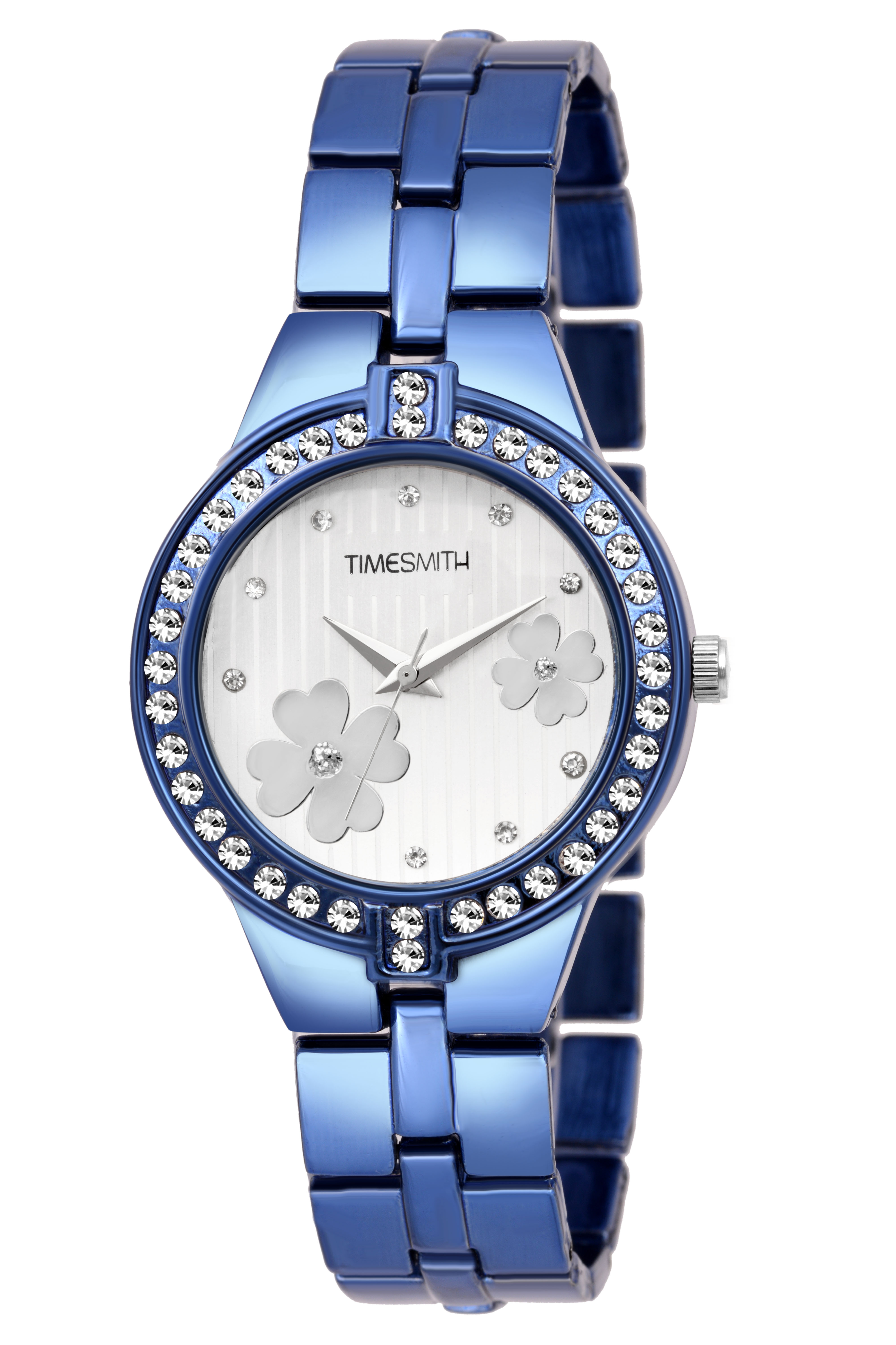 Timesmith   Timesmith White Dial Blue Stainless Steel Strap Branded Analog Watch for Women TSC-051