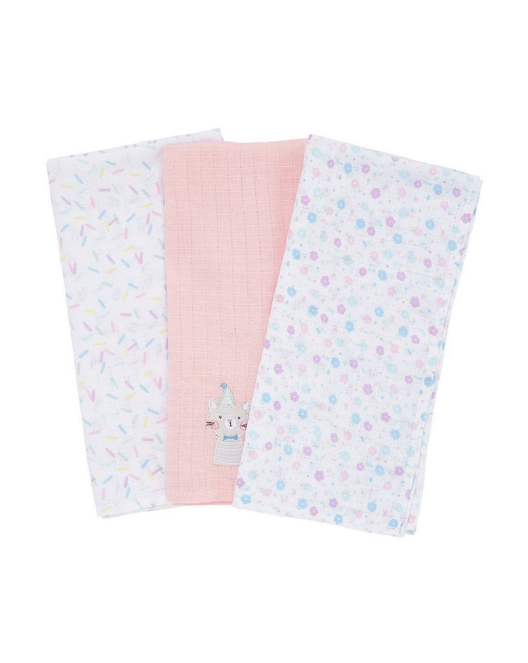 Mothercare | Confetti Party Muslins - Pack of 3