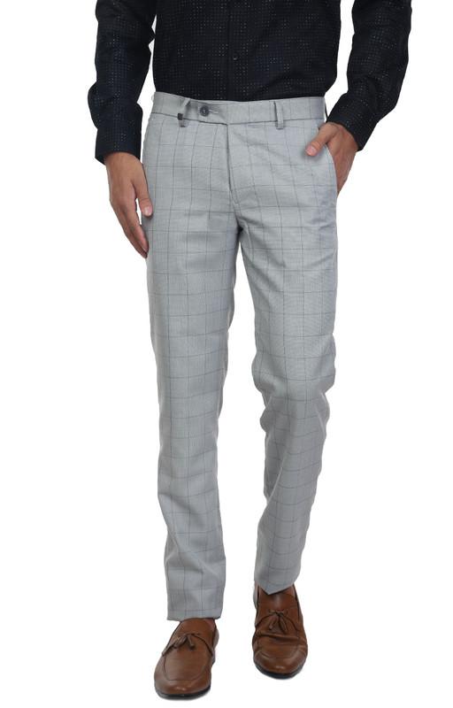 Turtle | Grey Trouser CHECKS POLYWOOL