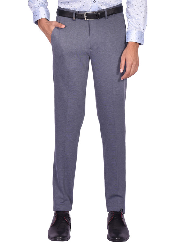 Turtle | Grey Prints Knitted Trouser