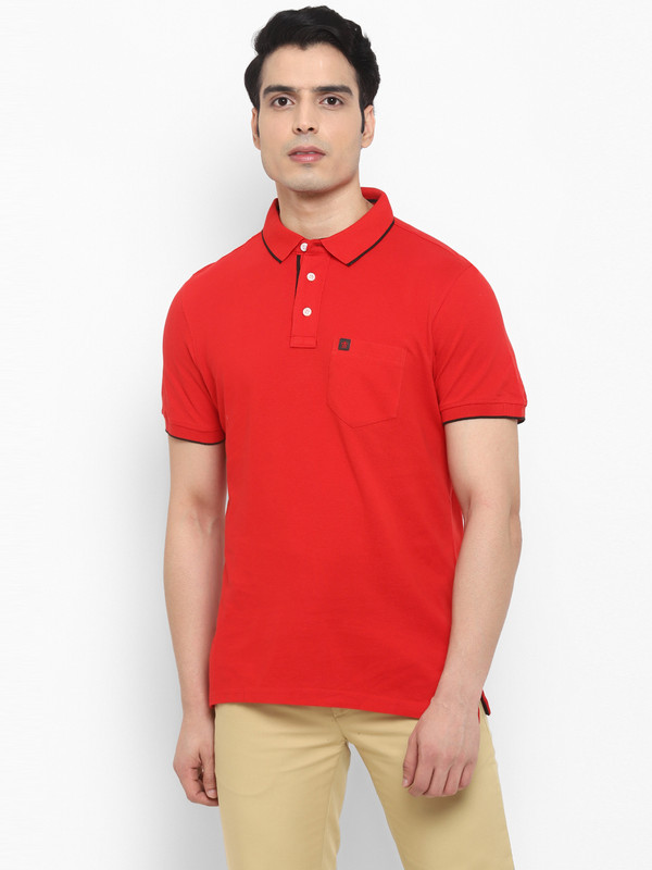 Turtle | Red Solid T-Shirt