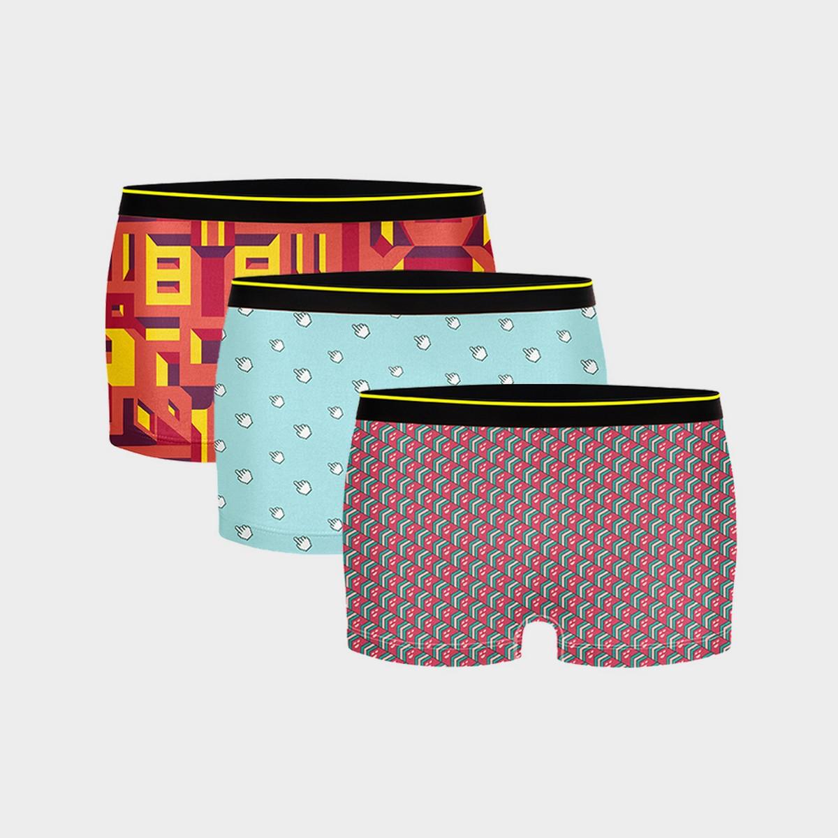 Bummer | Bummer Mindsweeper+Clickbait + Bricked Micro Modal Boy Short-Pack of 3 For Women