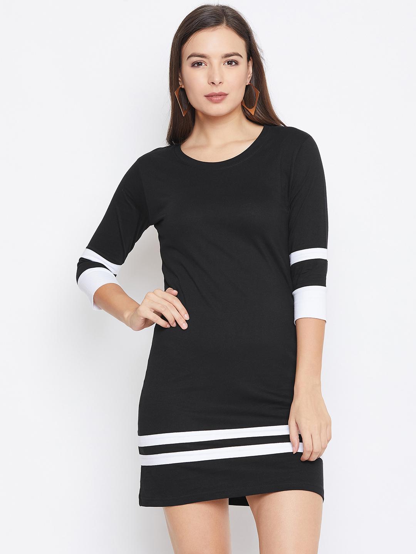 Jhankhi   Black & White Shift Dress