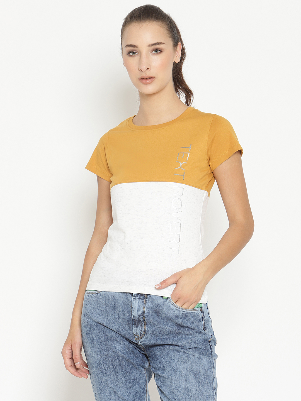 METTLE | Women DUSTY MUSTARD T-Shirts