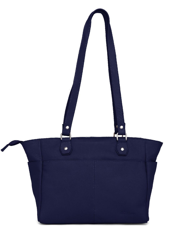 WildHorn | WildHorn Upper Grain Genuine Leather Ladies Tote, Shoulder, Hand, Shoulder Bag - Blue