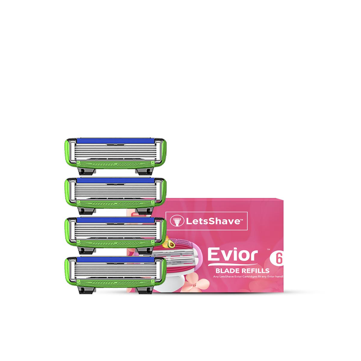 LetsShave | LetsShave Evior 6 Sensitive Blades for Women - Pack of 4 blades