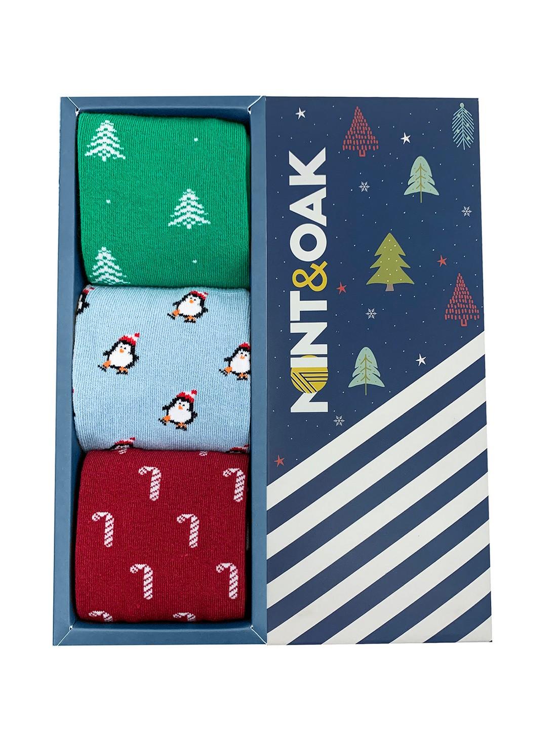 Mint & Oak | Mint & Oak Snow Day Crew Length Pack of 3 Socks for Men