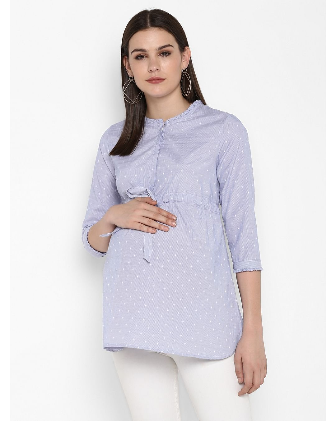 Mothercare   Momsoon women maternity three-fourth sleeves top- Blue