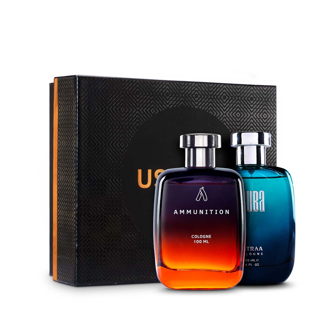 Ustraa | Fragrance Gift Box - Scuba Cologne 100ml & Ammunition Cologne 100ml