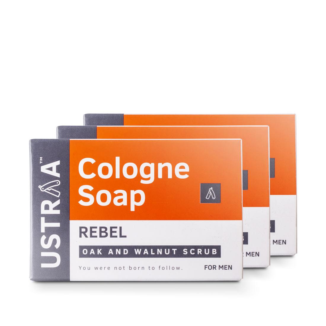 Ustraa | Ustraa Cologne Soap - Rebel (pack of 3)