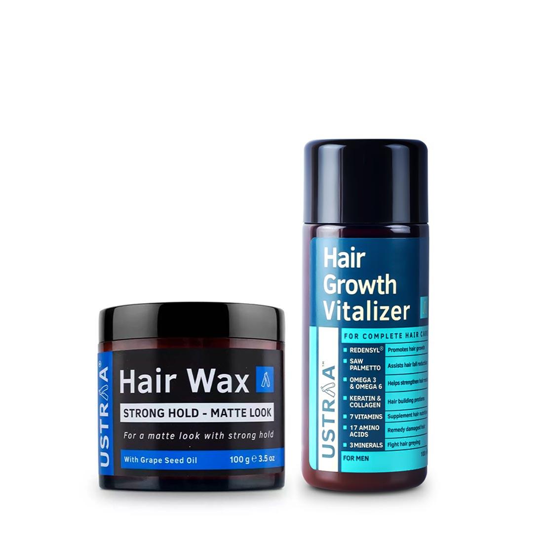 Ustraa | Ustraa Hair Growth Vitalizer 100 ml and Hair Wax Matt Look 100 g