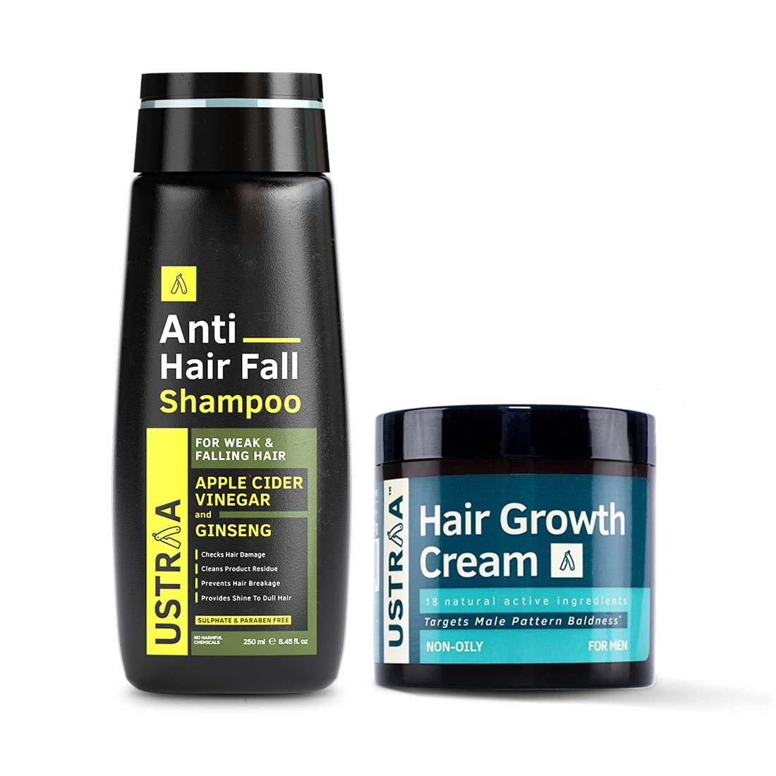 Ustraa | Ustraa   Anti hair fall shampoo 250 ml & Hair Growth Cream 100 g