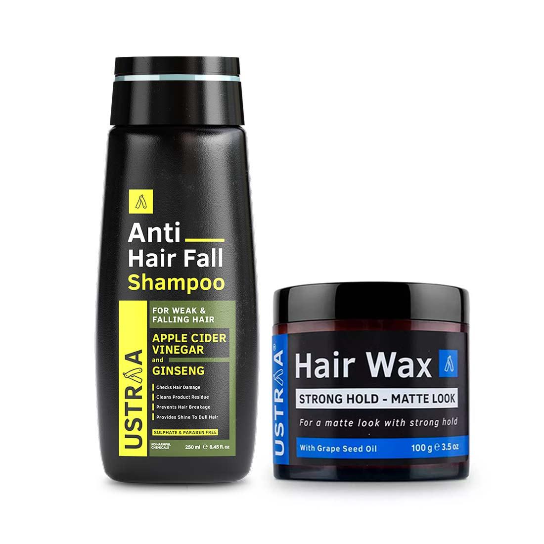 Ustraa | Ustraa Hair Wax Matte Look 100 g & Anti Hair Fall Shampoo 250 ml