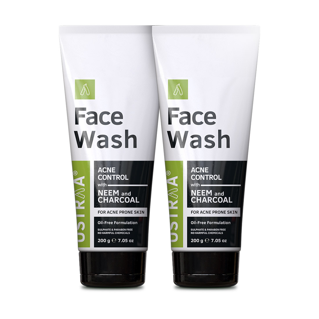 Ustraa | Ustraa Face Wash Acne Control - With Neem & Charcoal - 200g Set of 2
