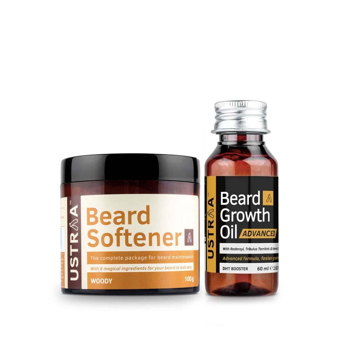 Ustraa | Ustraa Beard Growth Oil Advanced 60 ml & Beard Softener 100 g