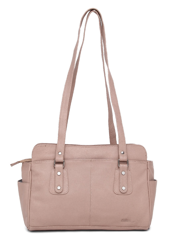 WildHorn   WildHorn Upper Grain Genuine Leather Ladies Shoulder Hand Bag for Girls & Women - Pink