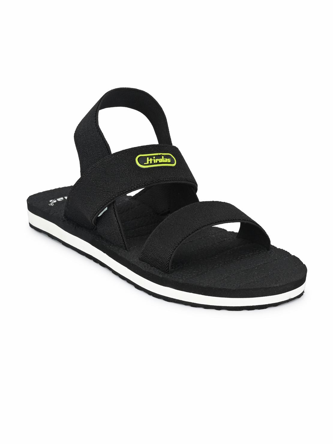 Hirolas | Hirolas Trendy Fabrication Flip-Flops Elasticated comfortable Slippers - Black