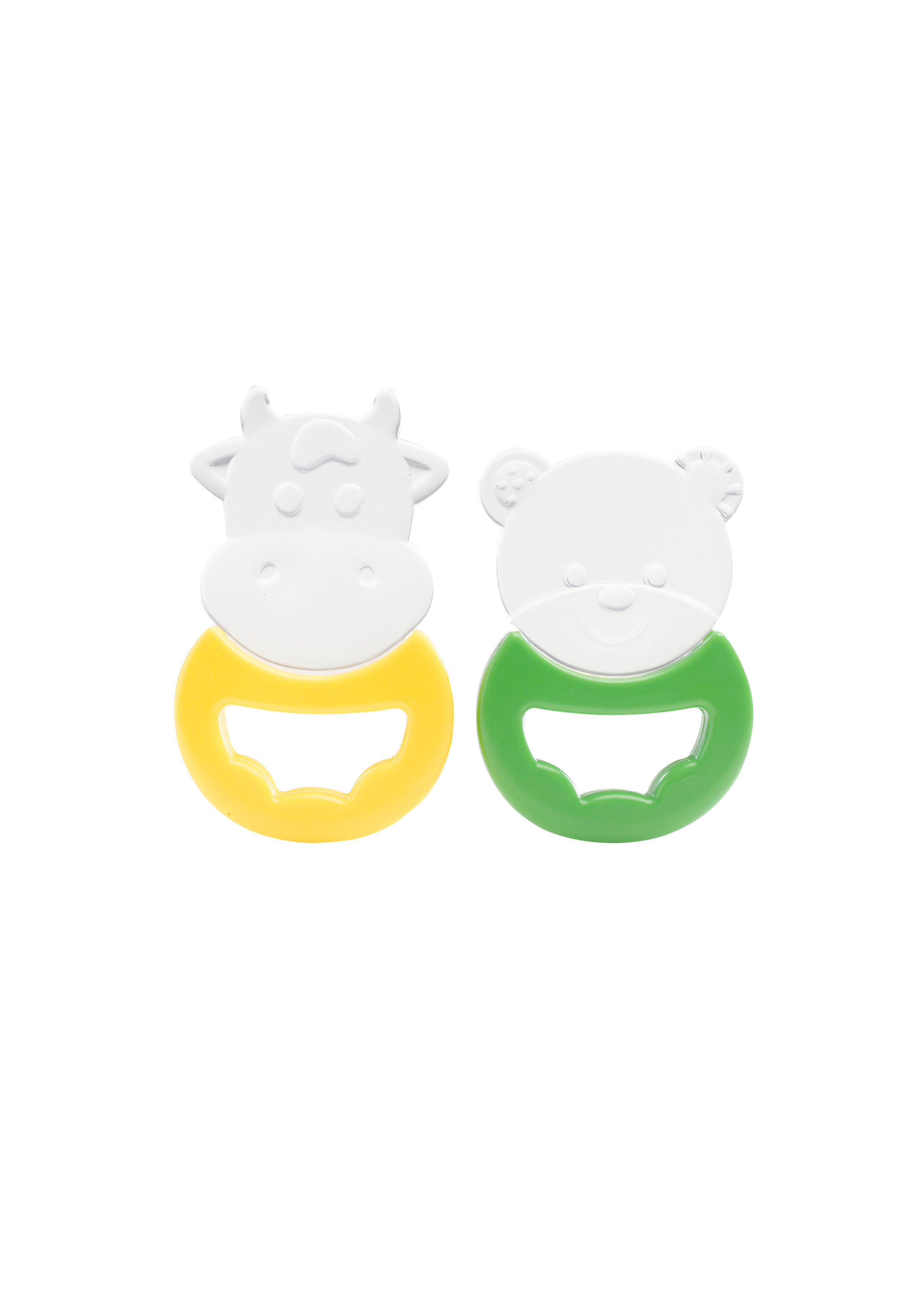 Mothercare   Yellow and Green Teether - Set of 2