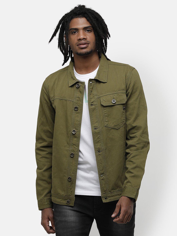 Voi Jeans | Green Denim Jackets (VOJK0146)