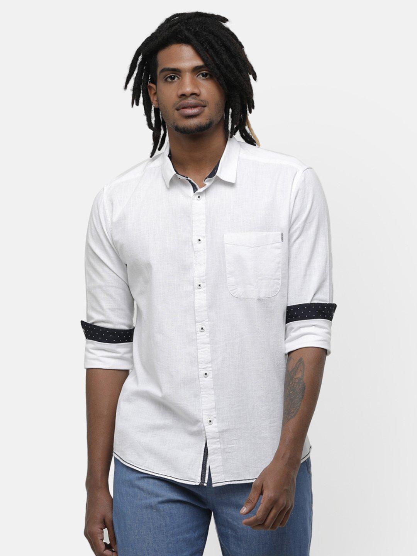 Voi Jeans   White Casual Shirts (VOSH1193)