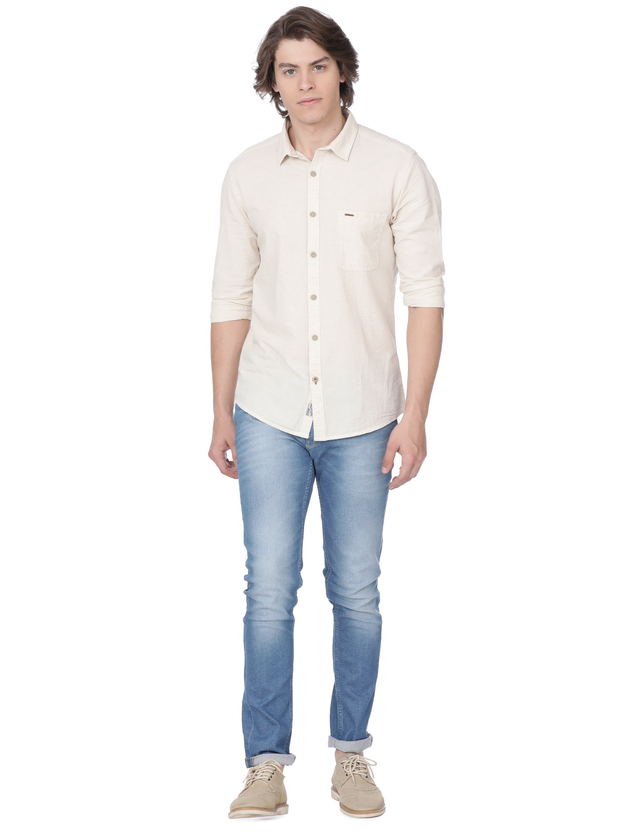 Voi Jeans   Brown Casual Shirts (VOSH1197)