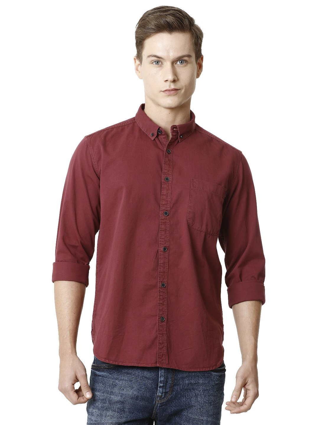 Voi Jeans | Brown Casual Shirts (VOSH1273)