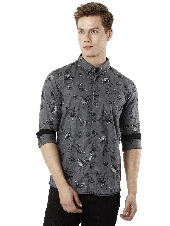 Voi Jeans | Grey Casual Shirts (VOSH1280)