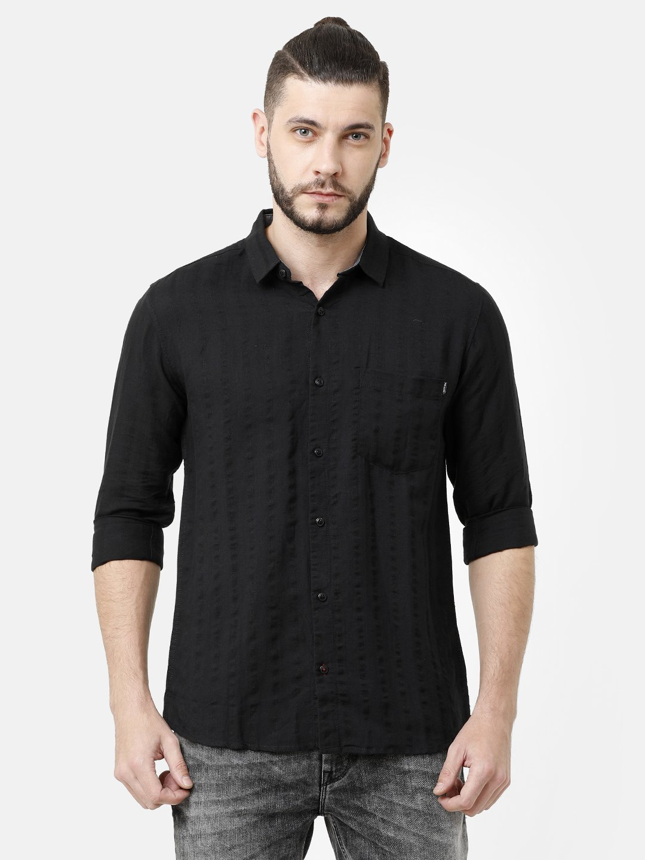 Voi Jeans | Black Casual Shirts (VOSH1291)