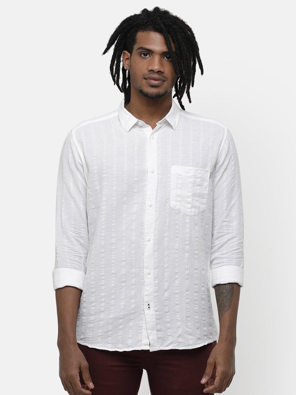 Voi Jeans   White Casual Shirts (VOSH1292)