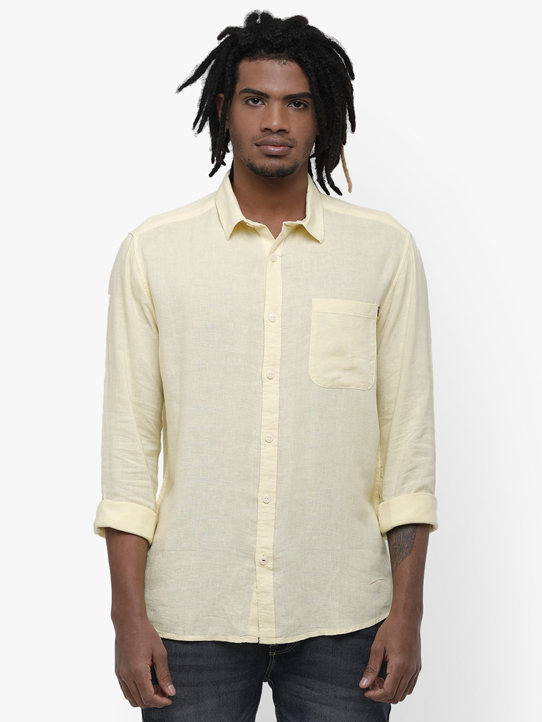Voi Jeans | Yellow Casual Shirts (VOSH1334)