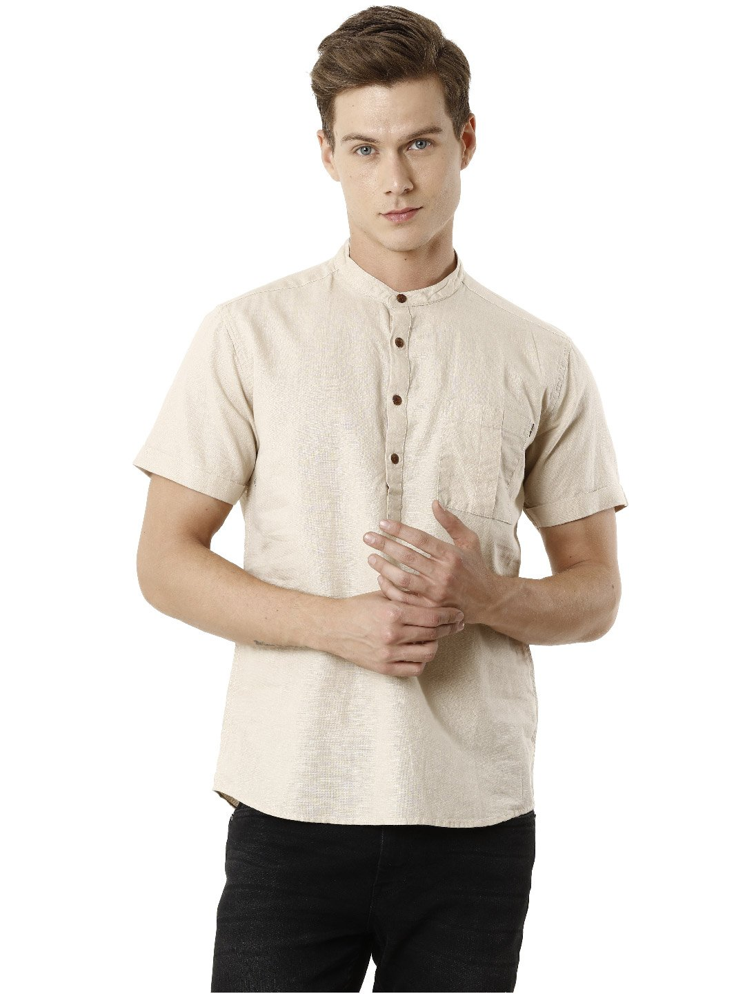 Voi Jeans | Brown Casual Shirts (VOSH1340)