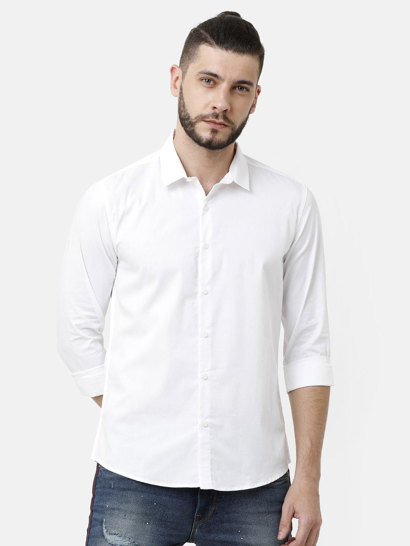 Voi Jeans | White Casual Shirts (VOSH1427)
