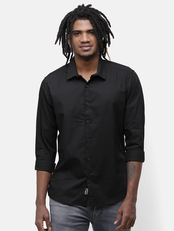 Voi Jeans | Black Casual Shirts (VOSH1428)