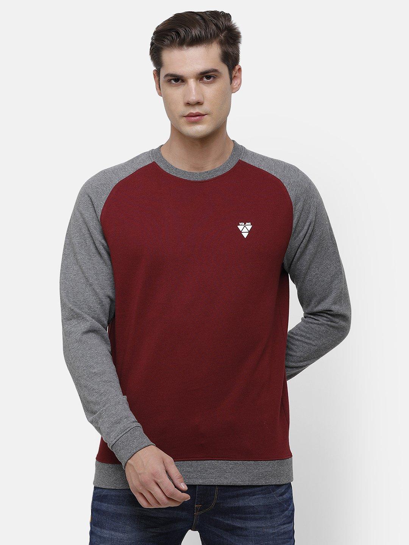 Voi Jeans | Maroon, Gray Sweatshirt (VOSS0962 )