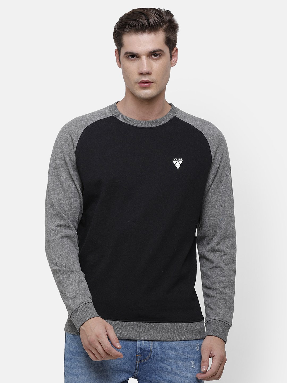 Voi Jeans | Black, Gray Sweatshirt (VOSS0963 )