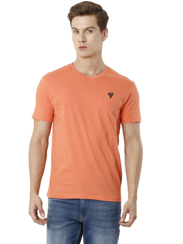 Voi Jeans | Orange T-Shirts (VOTS1408)