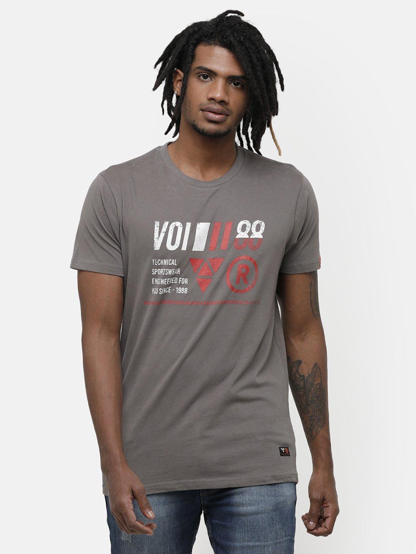 Voi Jeans | Grey T-Shirts (VOTS1410)