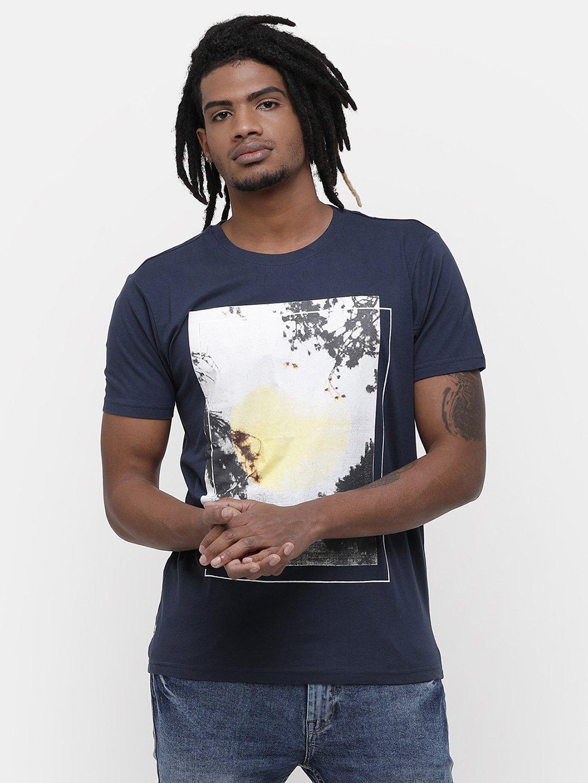 Voi Jeans | Blue T-Shirts (VOTS1413)